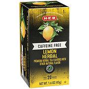 H-E-B Premium Lemon Caffeine Free Herbal Tea Bags