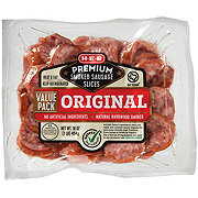H-E-B Premium Original Smoked Sausage Slices Value Pack