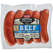 H-E-B Premium Smoked Beef Sausage Value Pack