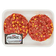 H-E-B Prime 1 Beef Bacon Cheddar Burgers, 2 ct