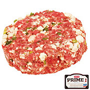 H-E-B Prime 1 Beef Blue Cheese Patties, Service Case