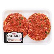 H-E-B Prime 1 Beef Cowboy Burgers, 2 ct