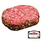 H-E-B Prime 1 Beef Garlic & Black Pepper Encrusted Burger, Service Case