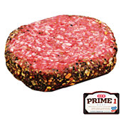 H-E-B Prime 1 Beef Garlic & Black Pepper Encrusted Burger, Service Case