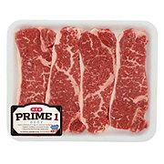 H-E-B Prime 1 Beef New York Strip Steak Boneless Value Pack