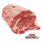 H-E-B Prime 1 Beef Ribeye Roast Bone In Large End, 6-8 Ribs, USDA Prime