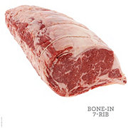 H-E-B Prime 1 Beef Ribeye Roast Bone In Whole, 7 RIbs, USDA Prime