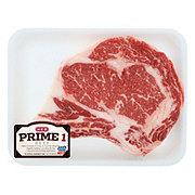 H-E-B Prime 1 Beef Ribeye Steak Bone-In Thick
