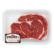 H-E-B Prime 1 Beef Ribeye Steak Boneless Thick