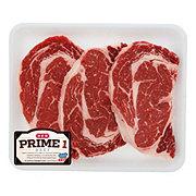 H-E-B Prime 1 Beef Ribeye Steak Boneless Value Pack