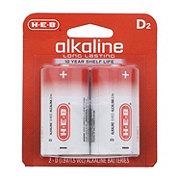H-E-B Pro+ Alkaline D Batteries