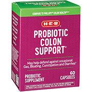 H-E-B Probiotic Colon Support Capsules