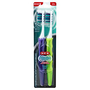 H-E-B Pulsating Toothbrush Medium Twin Pack, Assorted Colors