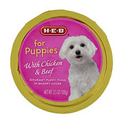 H-E-B Puppy Food With Chicken And Beef