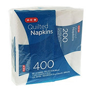 H-E-B Quilted Napkins White