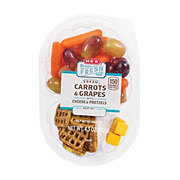 H-E-B Ready, Fresh, Go! Carrot Grape Cheese and Pretzel