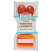 H-E-B Ready Fresh Go! Fresh Tomatoes and Carrots with Ranch Dip