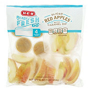 H-E-B Ready, Fresh, Go! Red Apple Slices with Caramel Dip