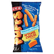 H-E-B Reduced Sodium Intense Cheese Cheese Puffs
