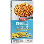 H-E-B Reduced Sodium Macaroni and Cheese