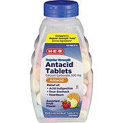 H-E-B Regular Strength Antacid Assorted Fruit Chewable 500 mg Tablets