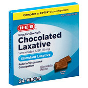 H-E-B Regular Strength Chocolated Laxative