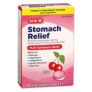 H-E-B Regular Strength Stomach Relief Cherry Flavor Chewable Tablets