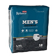 H-E-B Reliance Underwear for Men, Maximum Absorbency 18 ct