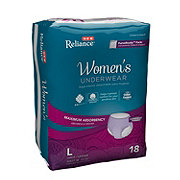 H-E-B Reliance Underwear for Women, Maximum Absorbency, 18 Count