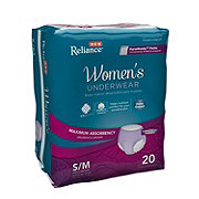 H-E-B Reliance Underwear for Women, Maximum Absorbency 20 ct