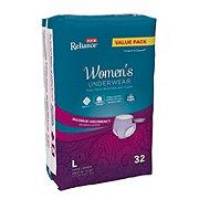 H-E-B Reliance Underwear for Women, Maximum Absorbency, Large