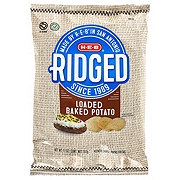 H-E-B Ridged Loaded Baked Potato Potato Chips