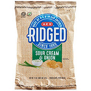 H-E-B Ridged Sour Cream and Onion Potato Chips