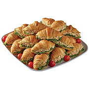 H-E-B Rotisserie Chicken Salad Croissant Party Tray, Limit 4