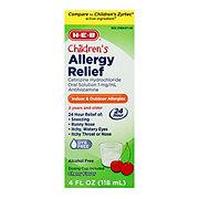 H-E-B Rx-Act Children's Antihistamine Cetirizine 1 mg/ml Oral Solution Cherry Flavor