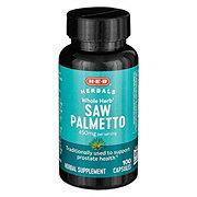 H-E-B Saw Palmetto 450mg Supplement