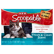 H-E-B Scoopable Fresh & Clean Scented Litter