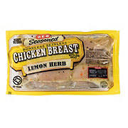 H-E-B Seasoned Boneless Skinless Lemon Pepper Chicken Breasts