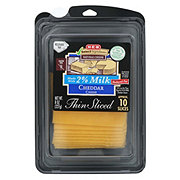 H-E-B Select Ingredients 2% Milk Cheddar Thin Sliced Cheese