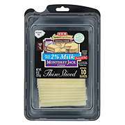 H-E-B Select Ingredients 2% Milk Monterey Jack Thin Sliced Cheese