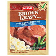 H-E-B Select Ingredients 25% Less Sodium Brown Gravy Mix