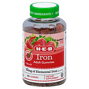 H-E-B Select Ingredients Adult Iron Gummies