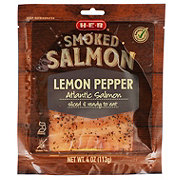 H-E-B Select Ingredients Atlantic Lemon Pepper Smoked Salmon