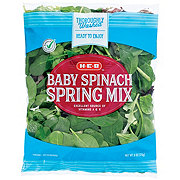 H-E-B Select Ingredients Baby Spinach & Spring Mix