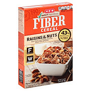 H-E-B Select Ingredients Bran Flakes with Raisins & Nuts Fiber Cereal