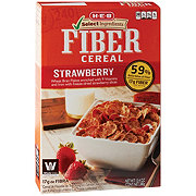 H-E-B Select Ingredients Bran Flakes with Strawberries Fiber Cereal