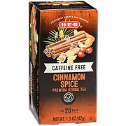 H-E-B Select Ingredients Caffeine Free Cinnamon Spice Herbal Tea Bags