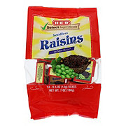 H-E-B Select Ingredients California Sweet Raisins Mini Boxes