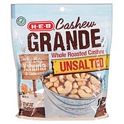 H-E-B Select Ingredients Cashew Grande Unsalted Whole Roasted Cashews