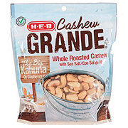H-E-B Select Ingredients Cashew Grande Whole Roasted Cashew With Sea Salt